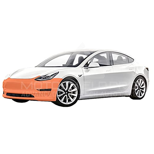 MotoShield Pro Precut Car Self-Healing Paint Protection Film, Clear Bra Paint Protection Film for DIY or Professional Use - for Tesla Model 3 (Front Bumper Only)