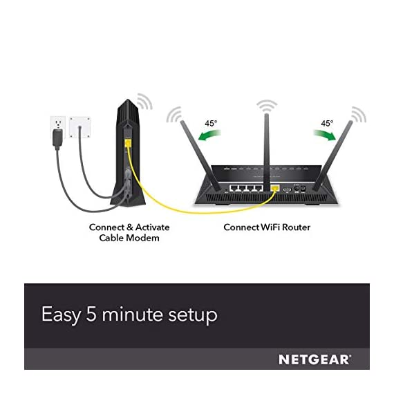 NETGEAR Cable Modem CM700 - Compatible with All Cable Providers Including Xfinity by Comcast, Spectrum, Cox | For Cable… 3 Compatible with all major cable internet providers: Including certification by Xfinity by Comcast, COX, and Spectrum. Not compatible with Verizon, AT&T, CenturyLink, DSL providers, DirecTV, DISH and any bundled voice service. Save monthly rental fees: Model CM700 replaces your cable modem saving you up to $168/year in equipment rental fees. Built for super-fast speed: best for cable provider plans up to 500 mbps speed.
