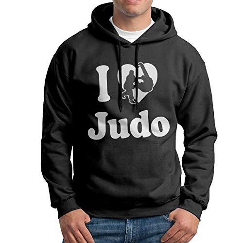 TeMcn_diy I Love Judo Men's Sweatshirt Pullover Hoodie
