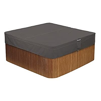 Classic Accessories 55-885-035101-EC Ravenna Water-Resistant 86 Inch Square Hot Tub Cover,Medium