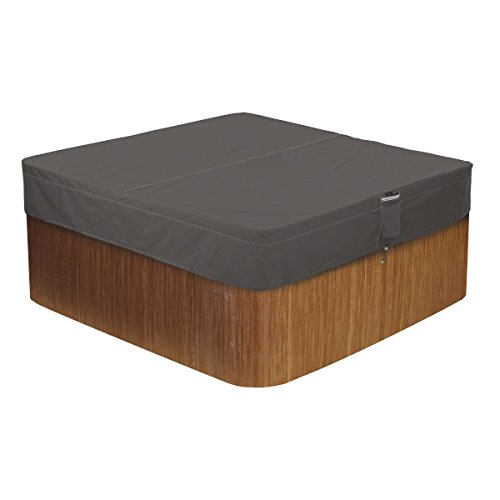 Classic Accessories 55-885-035101-EC Ravenna Water-Resistant 86 Inch Square Hot Tub Cover,Medium
