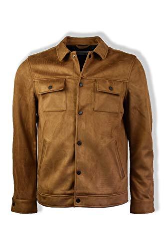 FARAH® Cleethorpes Jacke aus Velourslederimitat, Teak Gr. XL, braun