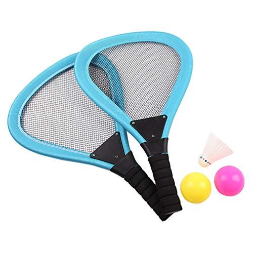 BESPORTBLE Tennisschläger Ballset Badmintonball für Kinder Outdoor-Sport Tennisschlägersets Strandspielzeug für Kinder 5St. Blau