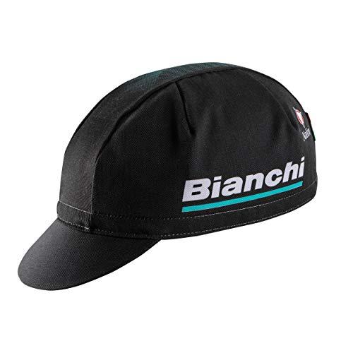 Bianchi - Cappellino Gara New Reparto Corse 2020 Colore Nero/CK16 100% Cotone C9551032