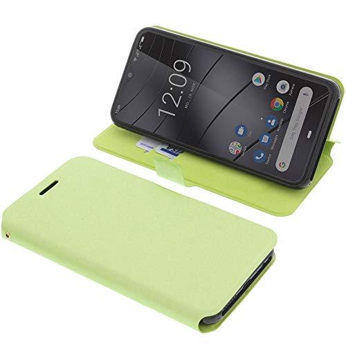 foto-kontor Tasche für Gigaset GS290 Book Style grün Schutz Hülle Buch