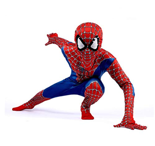 Spiderman kostuum kind home terugkeer Halloween carnaval superheld Spiderman boy kostuum Cosplay pak Spiderman mascara kind 110 cm blauw