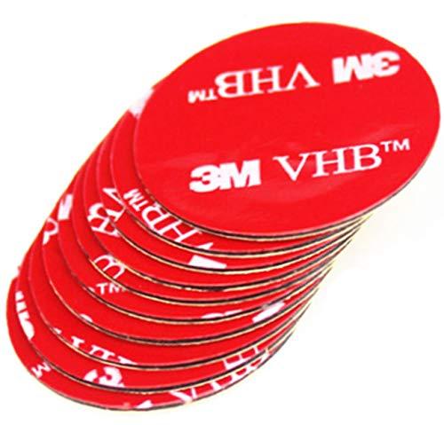 Simply the Best schwarz, grau oder transparent doppelseitiges Klebeband 3M VHB Acryl Rund Kreise ~ 50mm Durchmesser X 1mm Dick, Klebepads, farblos, 2 Individual Pads