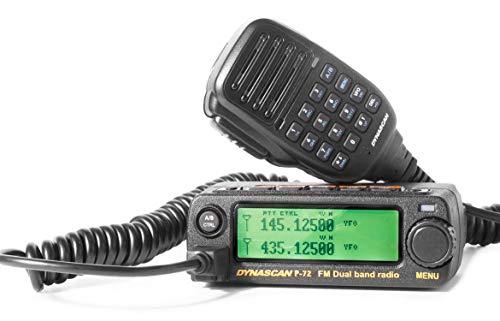 DynaScan p-72–emittente cellulare da Dual band radioaficionado (144–146/430–440MHz) Colore nero
