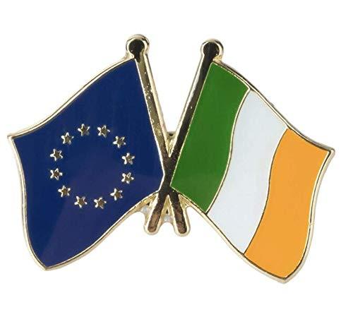 Patch Nation EU Europäische Union Irland Irisch Freundschaft Flagge Metall Button Badge Pin Brosche Anstecker
