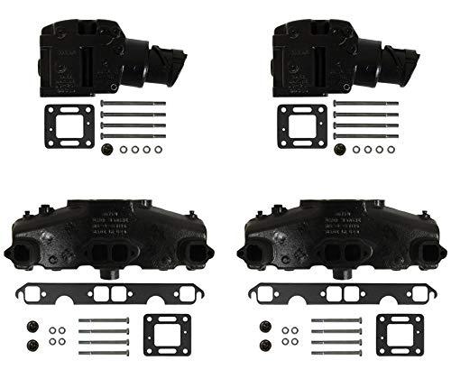 5.0L/5.7L Mercruiser Exhaust Manifold & Elbow/Riser Kit. 860246A15, 807988A03