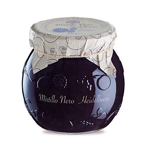 Menz&Gasser Edel Confettura Extra di Mirtilli Neri 55%, con Frutta di Alta Qualità, 1 Vaso x 620 g