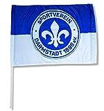 Sportverein SV Darmstadt 98 Fahne - Stockfahne Flagge - 60x90cm - Original Lizenzprodukt