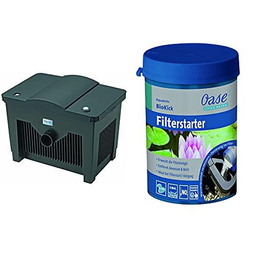 Oase 56776 Durchlauffilter BioSmart 18000 | Filter | Filtersystem | klares Teichwasser & 43138 AquaActiv BioKick 200 ml für 10.000 l - Teichbakterien Starterbakterien für Fischteich Gartenteich