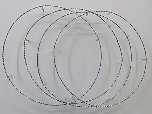 Motorcycle Bike 2 Sets Chrome Twisted Rim Rings for 20 inch Lowrider