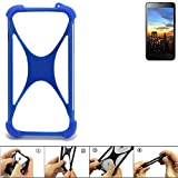 K-S-Trade® Handyhülle Für Hisense HS-U970E-8 Silikon Schutz Hülle Cover Case Bumper Silikoncase TPU Softcase Schutzhülle Smartphone Stoßschutz, Blau (1x),