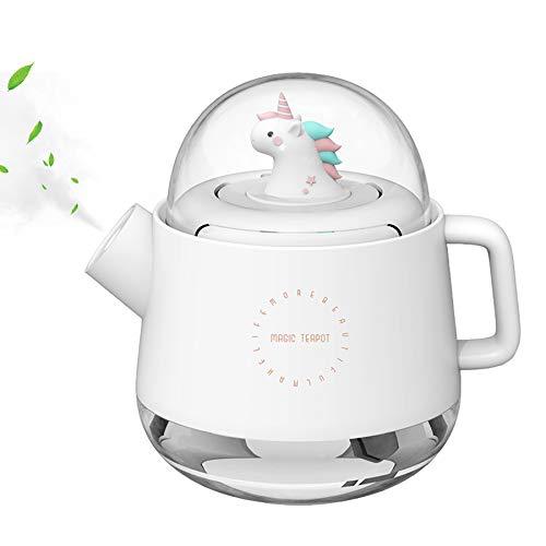 Mipa Mini-Luftbefeuchter für Babys, Ultraschall, leise, mit Nachtlicht, Diffusor, für ätherische Öle, tragbare Teekanne, magisches Design, für Kinderzimmer, Haus