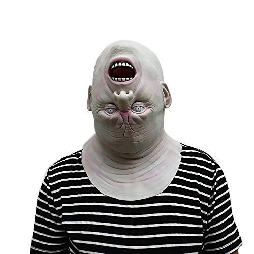 Watopi♥♥♥ Máscara de látex con diseño de Zombi para Halloween, máscara de Terror de Cabeza de látex, máscara de Calavera Realista para Disfraz, cómoda para Hombres y Mujeres