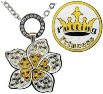Navika Magnetic Ball Online limited product Marker Necklace White with Adorned famous Plumeria