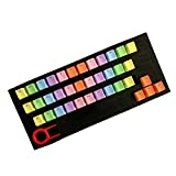 newshijieCOb 37 Keys Pbt Backlight Colorful Keycaps Cover Replacement for Mechanical & Gaming Keyboard Orange