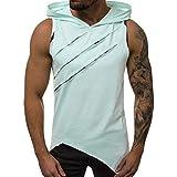 Sweat-Shirt à Capuche Hommes Sport Tee-Shirt Chemise Homme Casual Lettre Imprimé Slim sans Manches été T-Shirt...