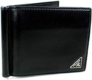 (プラダ) PRADA マネークリップ カード入れ ブラック j888 [中古]