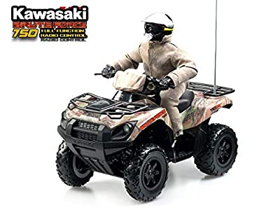 Kidztech 84331 - Kawasaki Brute Force 750 Remote Control Quad - 1:6 Scale, Range 15m, Camouflage print, 6 years+ by Grow'n Up