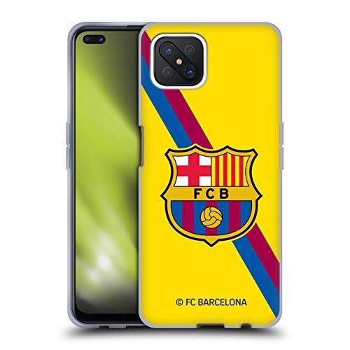 Head Case Designs Oficial FC Barcelona Segunda equipación 2019/20 Crest Kit Carcasa de Gel de Silicona Compatible con OPPO Reno4 Z 5G