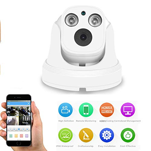 QLPP Security Home IP Camera System 5MP Baby Pet Nanny Best Monitor - Wireless WiFi Smart Indoor Surveillance Internet Cam with Night Vision, Motion Sensor