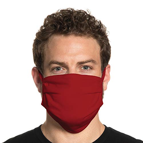 Secret Artist XLarge to 2XL Cloth Face Mask. Red with Reversible Black Cloth Face Mask. Washable and Reusable- Face Cover for Germs, Dust and Pollen. Easy Wash and Dry. Proudly Made in USA!