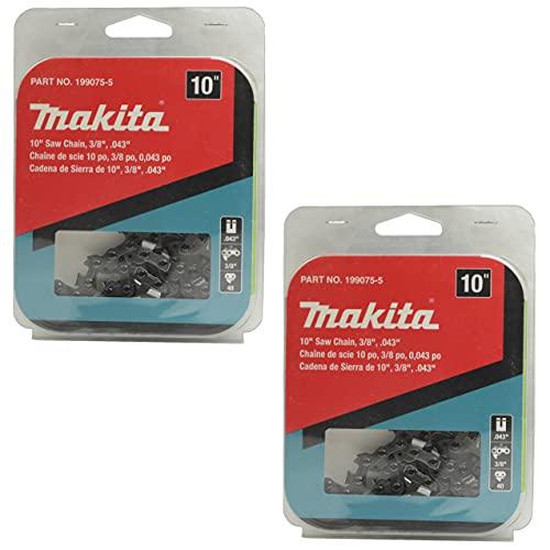 Makita 199075-5 10 in Saw Chain 3/8 in .043 in for XCU06Z - 2 Pack