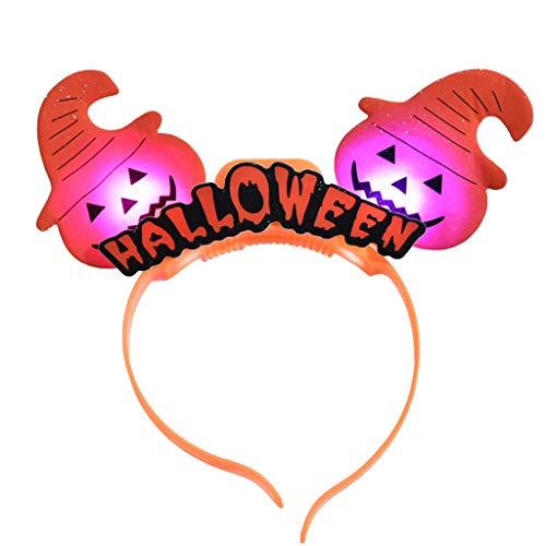 DUGURUI Die Beleuchtete Kopfbedeckung Halloween Kürbislicht Blitzkopf Schnalle Stirnband Party Kinder Verkleiden Sich Requisiten (Farbe : B-3PCS)