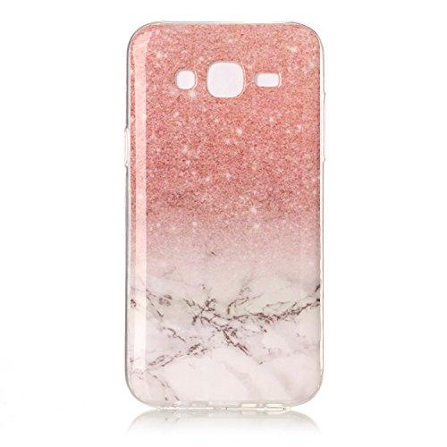 Lomogo Samsung Galaxy J5 (2015) / J500 Hülle Marmor Silikon, Schutzhülle Stoßfest Kratzfest Handyhülle Case mit Marmormuster für Samsung Galaxy J5 (2015) - YIHU23492#2