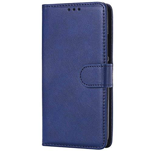 Bear Village® Hülle für Moto E4, Flip Leder Handyhülle Tasche mit Kartensfach, TPU Innere Ledertasche, 360 Grad Voll Schutz, Blau