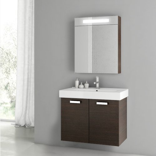 Best Bargain ACF C74-637509908706 Cubical 2 Collection Vanity Set, Wenge
