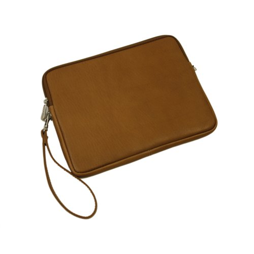 Piel Leather Ipad Sleeve, Saddle, One Size