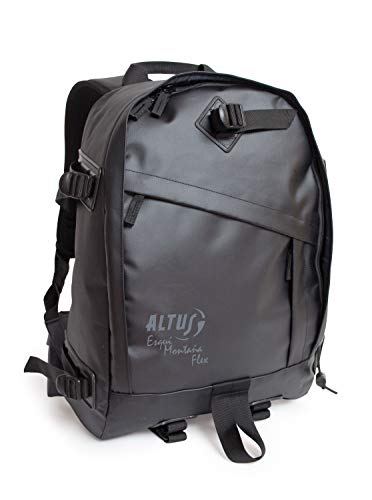 Altus Flex - Mochila de montaña, Unisex, color Negro, Talla Única