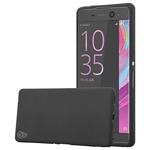 Cadorabo Funda para Sony Xperia XA Ultra en Frost Negro - Cubierta Proteccíon de Silicona TPU Delgada e Flexible con Antichoque - Gel Case Cover Carcasa Ligera