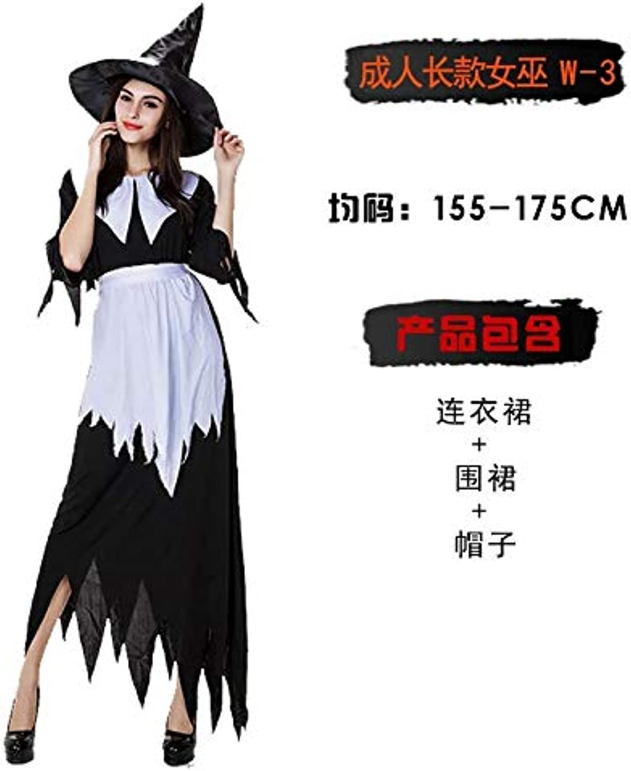 Xiaoludian Halloween Costume Adult Witch Cosplay Show Bat Little