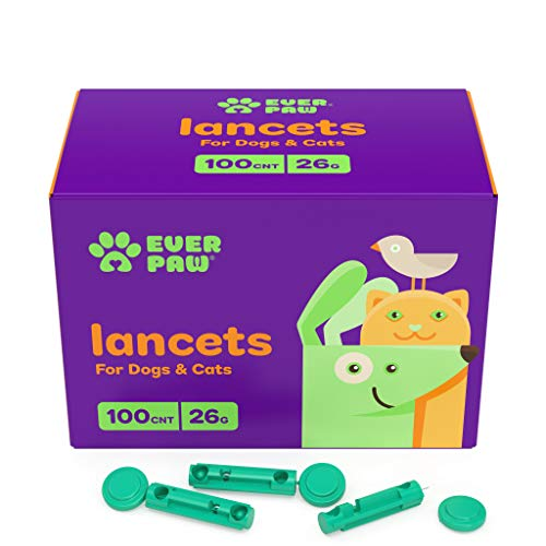EverPaw Twist Top Lancets 26 Gauge, 100 Count | Thick & Extended Needle | for Blood Glucose Testing in Dogs & Cats