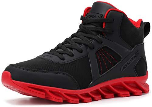 BRONAX Zapatillas Hombres Deporte Running Zapatos para Correr Gimnasio High Top Sneakers Deportivas Transpirables Casual Todo Negro 41EU