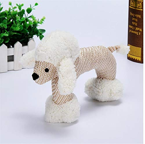 WEIGENG Dog Chew Jouets for Petits Chiens Big Bite Jouets for Chiens résistants Canard Squeak Squeak Interactive Puppy Toy for Les Fournitures Animaux (Color : Poodle)