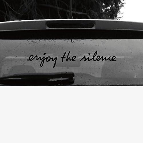 Greenit Schriftzug Enjoy The Silence Aufkleber Tattoo Die Cut Car Decal Auto Heck Deko Folie Depeche Mode Schwarz Invers Auto