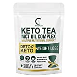 Diet& Detox Tea for Weight Loss and Energy, Skinny Slimming Tea for Colon Cleanse and Flat Tummy-GPGP Greenpeople Premium Keto Herbal Tea with MCT Oil and Vitamin B1, B2, B6, -28 Days