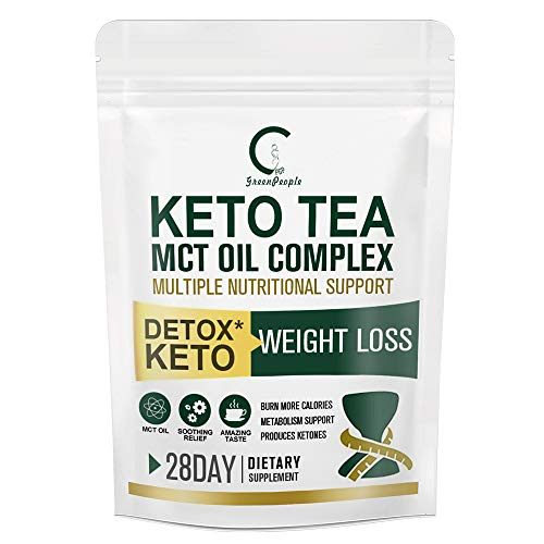 GPGP Greenpeople Keto Herbal Tea-Weight Loss Tea with MCT Oil and Vitamin B1, B2, B6, C, Premium Detox & Keto Tea for Energy and Sport Supply-28 Servings