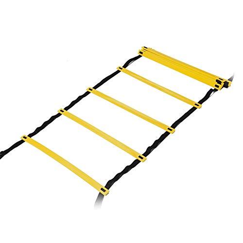 Escalera de Agilidad para Fútbol Escalera de agilidad 12 Rung Equipo de entrenamiento de velocidad ajustable Equipo Fútbol Flexibilidad Entrenamiento Escalera de salto Entrenamiento de Flexibilidad de