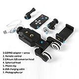 Noradtjcca Caméra vidéo Diapositive motorisée Mini Curseur Curseur sans Fil télécommande pour Canon Nikon Sony DSLR caméra Smartphone