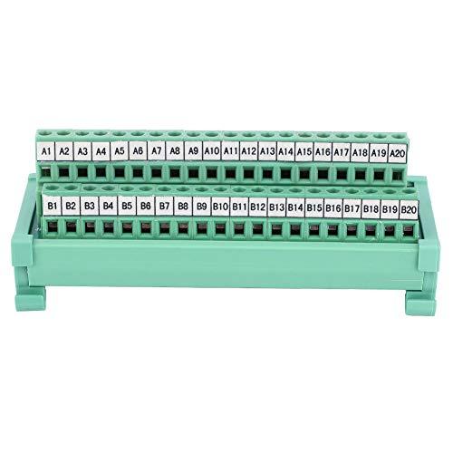 para FJ40P PLC Placa De Conexión Bloque De Terminales Módulo Adaptador De Señal Conector Bloques De Interfaz De Montaje En Riel DIN