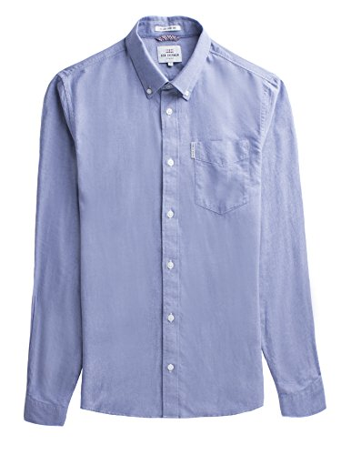 Ben Sherman Herren Ls Core Oxford Shirt Freizeithemd, Blau (Navy 170), XX-Large