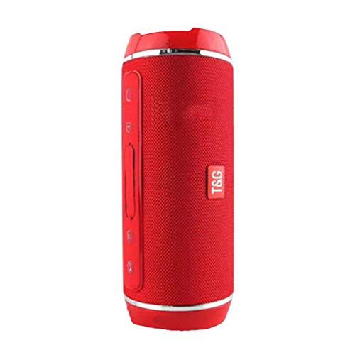 Altavoz inalámbrico con Bluetooth, Altavoz estéreo con supergraves, Caja de Sonido de subwoofer de Larga duración con FM para Playa, Fiesta al Aire Libre, Ducha