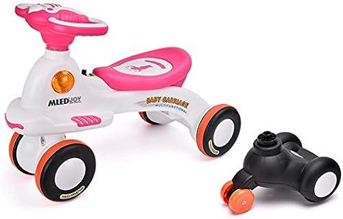 fürt auf Spielzeug, fürt auf Wiggle Auto von - fürt auf Spielzeug für Jungen und mädchen, 1 Jahr alt und oben, sch  blaue Karikatur (fürt auf Spielzeug 2 in 1) (Farbe   Rosa)